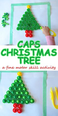 CAPS CHRISTMAS TREE – HAPPY TODDLER PLAYTIME
