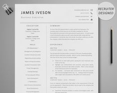 Business Resume Template, Executive Resume Template, Simple Resume Template, Resume Templates, Student Jobs, Student Resume, College Students, Marketing Resume, Sales Resume