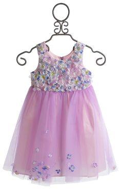 Le Pink Fleur Bleu  Lavender Girls Dress