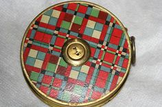 RARE Plaid c1897 Round Cloth Large Size Wind Up Advertising Tape Measure | eBay