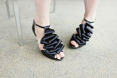 gorg pleated black heels from Shoes of Prey