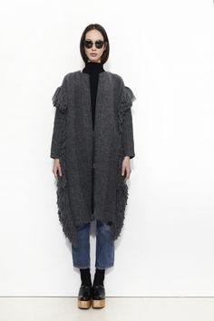 RACHEL COMEY, Fringe Knit Coat | Mr. Larkin