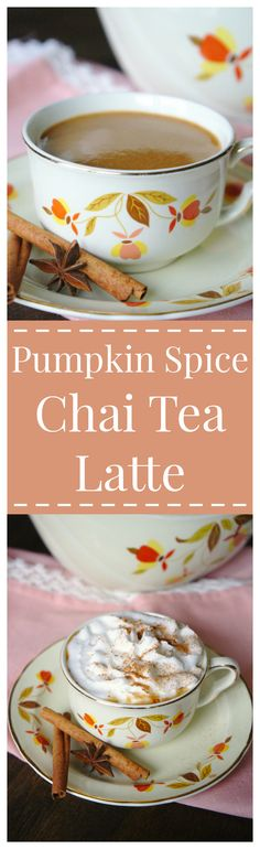 Pumpkin Spice Chai Tea Latte – A fall twist on a classic drink! A flavorful hot spiced chai tea latte with pumpkin blended in!