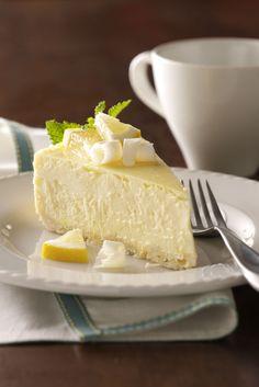 Lemony White Chocolate Cheesecake Recipe from Taste of Home