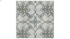 Granada Smoke Glass and Stone Water Jet Mosaic Artistic Tile, Interior Walls, Damask, Blue Grey, Mosaic, Smoke, Curtains, Pearls, Glass