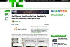 http://techcrunch.com/2013/06/07/whoscall/ ... | #Indiegogo #fundraising http://igg.me/at/tn5/