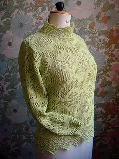Rowan 49: Shetland lace sweater- front overview by craftyknitter, via Flickr