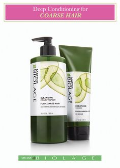 Biolage Cleansing Conditioner for Coarse Hair is a low-lathering, no-poo shampoo made without harsh salts and detergents so it cleans without drying out your hair. Formulated with avocado, the Cleansing Conditioner provides deep conditioning to restore smoothness and manageability for increased shine and suppleness. You're only one wash away from silky smooth hair. What are you waiting for? See if Biolage Cleansing Conditioners are right for you!http://bit.ly/1GyqnTO
