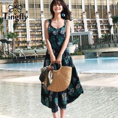 4af079996fd Tingfly Strap cross sexy summer dress women Tropical floral button casual  dress Backless streetwear reformation dress vestidos. Yesterday s price  US   28.00 ...