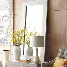 Crackled Mother-of-Pearl Floor Mirror | Home Decor | Pinterest ...
