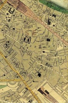 Cottage Row, Bermondsey (no longer exists) Wickens residence in 1851 London Map, London Places, South London, Old London, London City, London Pictures, London Photos, London History, Tudor History