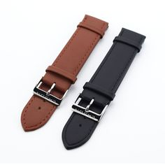 New Watch Accessories Watch Bracelet Belt Soft Genuine Leather Watch Band Thin Watch Strap 20mm Watchbands. Yesterday's price: US $10.99 (8.93 EUR). Today's price: US $4.40 (3.58 EUR). Discount: 60%.