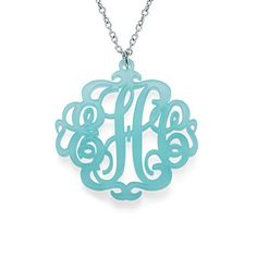 This Acrylic Monogram Necklace is an ideal gift for Mom's, bridesmaids and girlfriends.