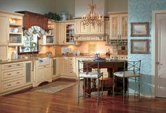 Wellborn Cabinet Kitchen - Honey Butter www.wellborn.com #WellbornCabinet
