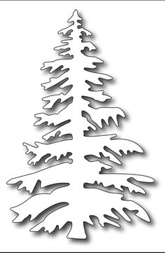 Frantic Stamper Precision Die - Large Blue Spruce-One can never have enough tree dies…. This one is our Large Blue Spruce.Trimming the Tree (Karen Letchworth, Guest Designer) I know Christmas seems like yesterday, but we know that we all should be Christmas Tree Stencil, Christmas Tree Drawing, Christmas Door Wreaths, Christmas Door Decorations, Mini Christmas Tree, Christmas Crafts, Christmas Tree Outline, Christmas Tree Silhouette, Xmas
