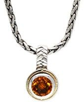 EFFY Citrine Pendant Necklace in 18k Gold and Sterling Silver (1-3/4 ct. t.w.)