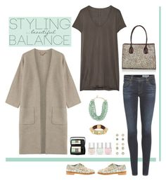 """""""balance"""" by musicfriend1 ❤ liked on Polyvore featuring Overland Sheepskin Co., Rick Owens, AG Adriano Goldschmied, 81hours, Anouki, Dominique Denaive, Givenchy, Accessorize, Lancôme and Nails Inc."""
