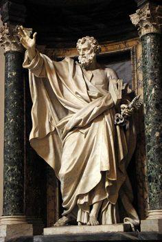 Basilique Saint-Jean-de-Latran Statues des apôtres : ici, Saint-Pierre.