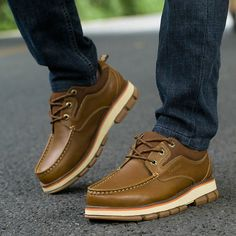 Autumn Fashion Outdoor Men Casual Shoes Designer Zapatos Hombre Color Light Brown Dark Brown