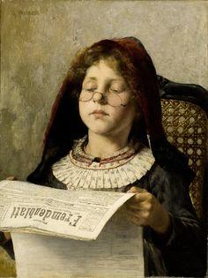 Girl reading, 1882 // by Georgios Jakobides