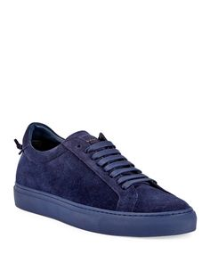 GIVENCHY Men'S Urban Knot Suede Low-Top Sneaker, Burgundy. #givenchy #shoes #