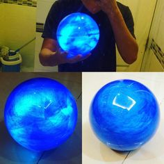 This very cool!! Ahri's Orb from  League of Legends or Rasengan from Naruto I made this by plastic clear ball separate half/half i mix glitter with candy blue color for drybrush inside plastic ball  use thin fabric and And Blue LED light inside this prop can use for several character. #drachencosplayteam #propmaker #props #propmaking #ahri #ahriorb #leagueoflegends #leagueoflegendscosplay #leaguecosplay #rasengan #Naruto #cosplayprop #cosplayprops #led