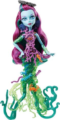 f909306443d Amazon.com: Monster High Great Scarrier Reef Down Under Ghouls Posea Reef  Doll: Toys & Games