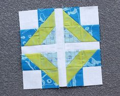 Scrappy plus patchwork block