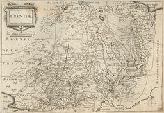 Historische kaart Drenthe 1660