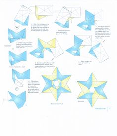 Origami diagram for Cathy's star - Page 2 - 6 point modular star.  Very similar to Hexa Origami Star by Francis Ow.