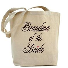 Grandma of the Bride tote bag #wedding #grandma #bags