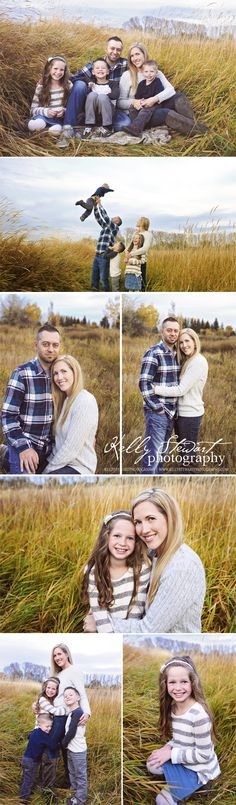 Kelly Stewart Photography, Idaho Falls Family Photographer, http://www.kellystewartphotography.com/ Family pose ideas, long grass, family of five poses, Idaho Falls photographer,
