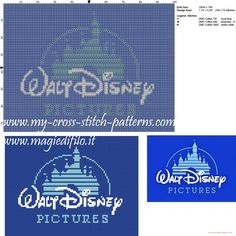 Walt Disney logo cross stitch pattern