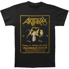 Tricou Anthrax: Among The Living New - MetalHead Merch Among The Living, 49er, Metalhead, News, Mens Tops, T Shirt, Supreme T Shirt, Tee Shirt, Tee