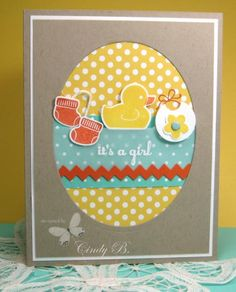 Something for Baby Girl  by cindybstampin - Cards and Paper Crafts at Splitcoaststampers