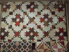 Love both the large quilt and the stars with alt brown blocks. Bonnie blue pattern.