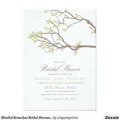 Blissful Branches Bridal Shower Invitation