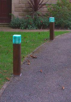 IROKO MINI WOODEN BOLLARD LIGHT - Solid wood LED bollard lighting - Landscape lighting - Driveway LED Bollard…