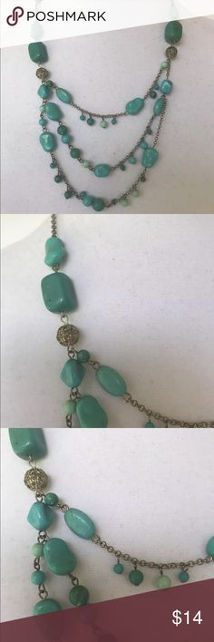 Delicate turquoise color silver tone Necklace Delicate turquoise color beads silver tone Necklace Jewelry Necklaces