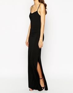 Enlarge TTYA Cage Back Strappy Maxi Dress With Side Split
