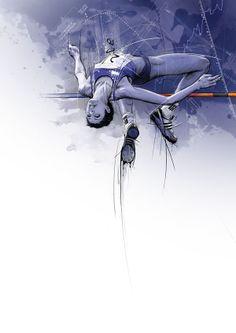 Hosber Art - Blog de Arte & Diseño.: Deportes Ilustrados por Tomasz Usyk
