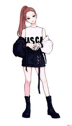Manga Anime Girl, Cool Anime Girl, Pretty Anime Girl, Anime Girl Drawings, Beautiful Anime Girl, Kawaii Anime Girl, Cartoon Girl Drawing, Cartoon Art, Cute Drawings