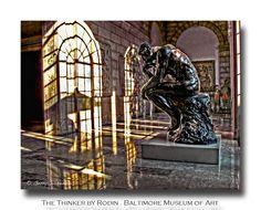 The Thinker, Rodin, Baltimore Art Museum Joe Versus The Volcano, Rodin, Baltimore, Art Museum, Places Ive Been, Bookends, Lion Sculpture, Statue, Studio