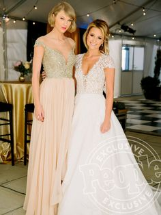 Celebrity Bridesmaids: What they Wore to Their Best Friends' Weddings TAYLOR SWIFT   There are quite a few perks to having Taylor as your Maid of Honor, as her childhood friend Britany Maack found out. Not only do you get an incredibly heartfelt speech, but you also get an impromptu wedding singer, someone to call in a custom gown for you (they're both in Reem Acra) and someone to bring a Vogue reporter along to document the whole day.