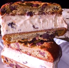 Choco Chip Ice Cream Sandwhich. From Foodie Insta Account @swagfoodphilly