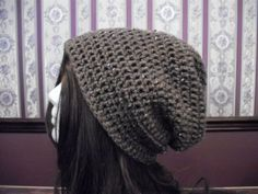 Teen Adult Size Brown Slouch Hat Slouchy by MarlowsGiftCottage, $20.00