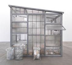 """""""No title (transparent room)"""". Robert Therrien. 2010. Steel, glass, plastic."""