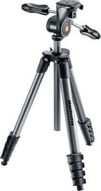 """Manfrotto - 65"""" Compact Action Tripod - Black...doesnt have to be this one exactly. Just has to have options for height and top must have rotate options like the one i have - nikon d7000 camera compatible"""