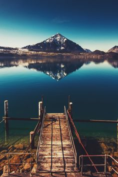 Mountains and lake... So serene