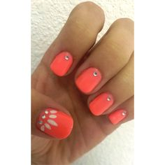 Cute summer manicure shellac Simple and easy